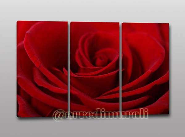 quadri moderni stampa su tela rosa rossa