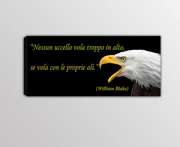 Quadro moderno stampa frase William Blake