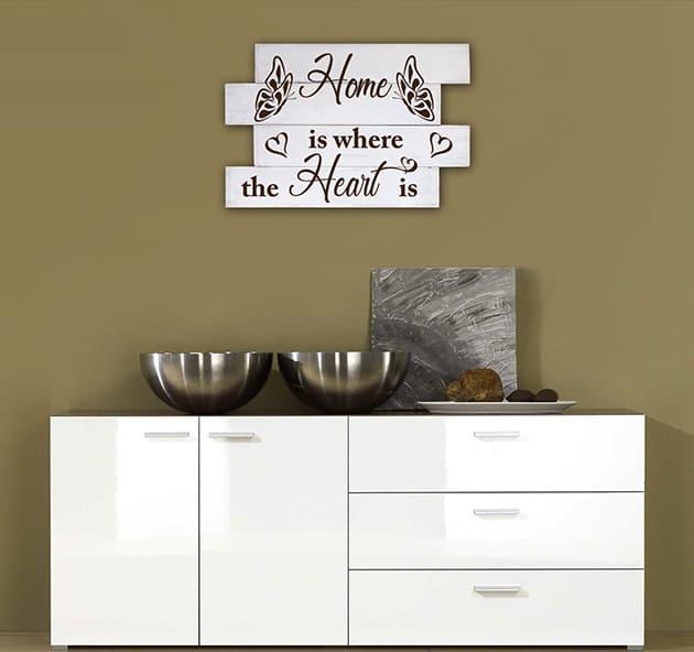Shabby chic frase casa pannelli decorativi legno
