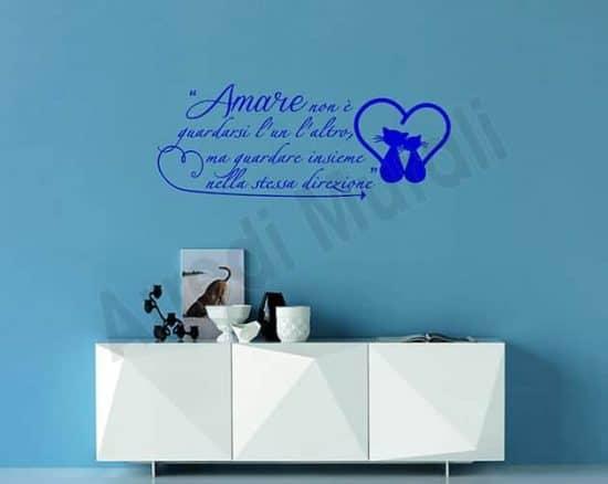 adesivi da parete frase Antoine de Saint-Exupéry
