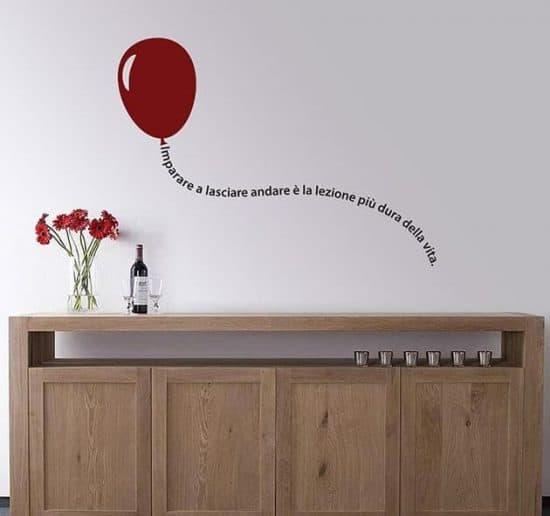 adesivi da parete frase con palloncino arredo