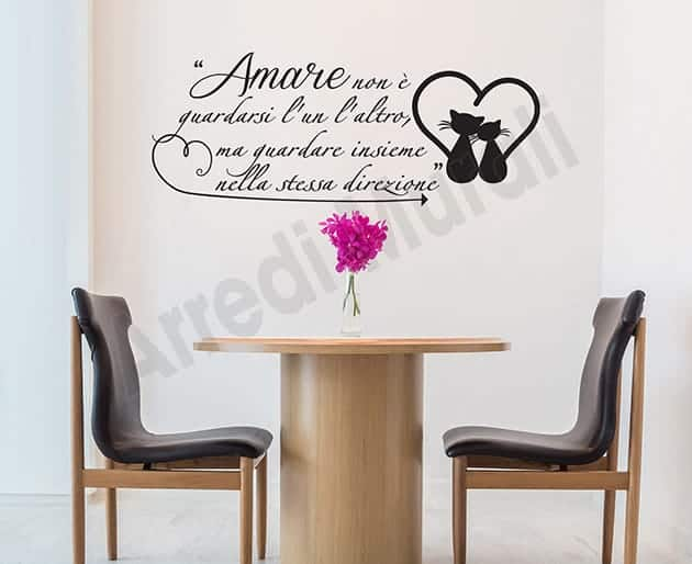 adesivi murali frase Antoine de Saint-Exupéry