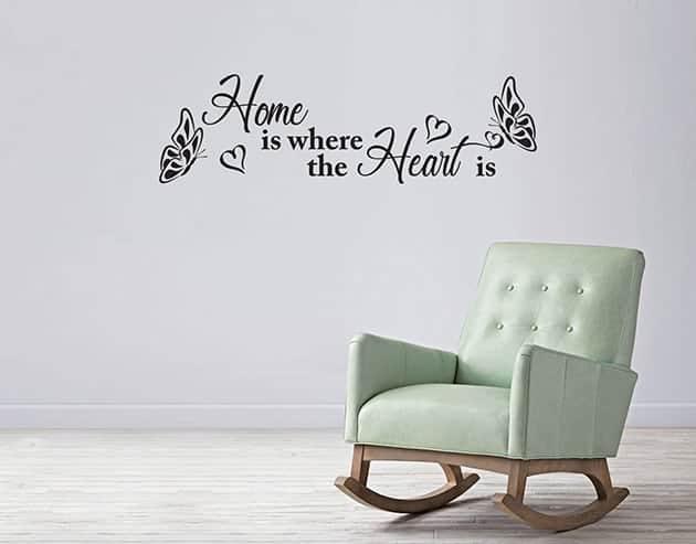 adesivi murali frase arredo casa home