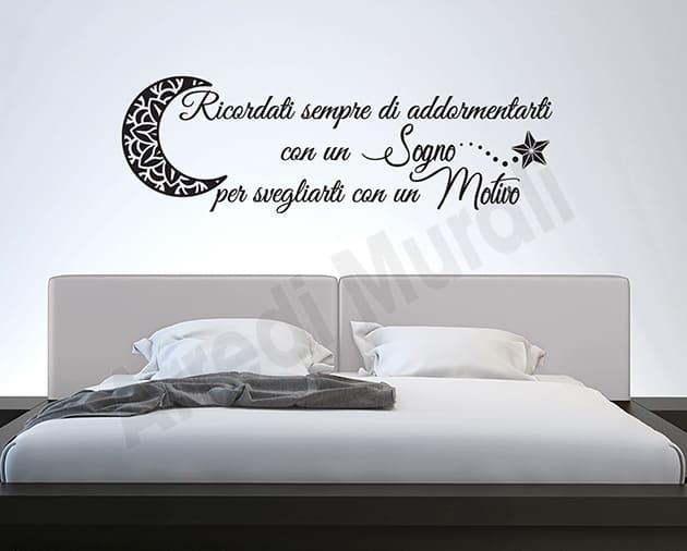 adesivi murali frase camera da letto