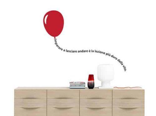 adesivi murali frase con palloncino arredo