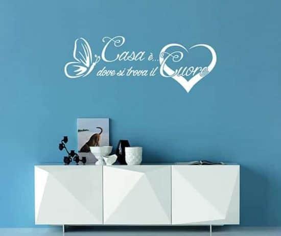 decorazioni da parete frase arredo casa cuore