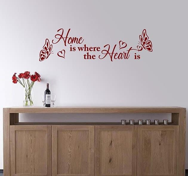 decorazioni da parete frase arredo casa home