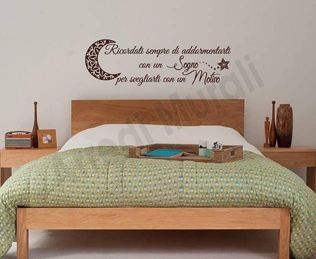 Adesivi da parete frase camera da letto arredi murali - Decorazioni camera da letto ...