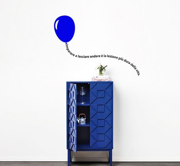 decorazioni murali frase con palloncino arredo