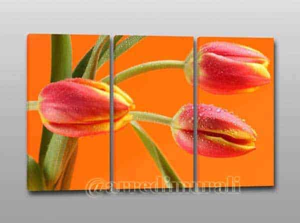 Tulipani su quadro moderno