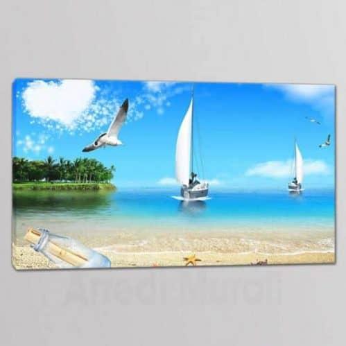 quadro moderno con paesaggio mare su 1 tela