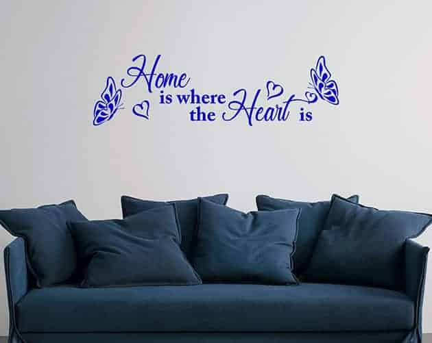 wall stickers frase arredo casa home