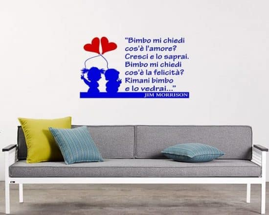wall stickers frase bimbo Jim Morrison