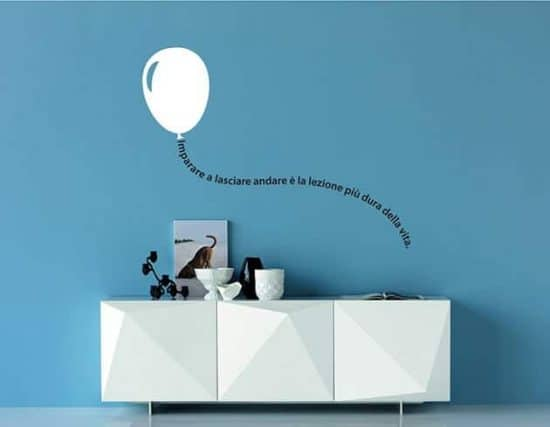 wall stickers frase con palloncino arredo