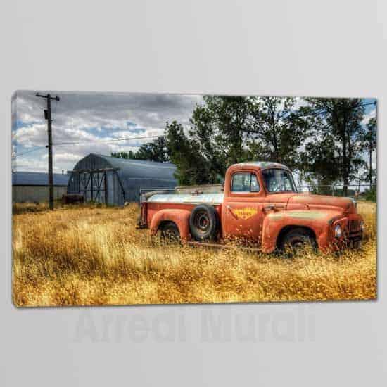 quadro su tela moderno con paesaggio di campagna vintage
