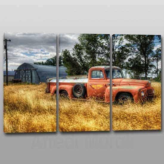 quadri moderni paesaggio vintage