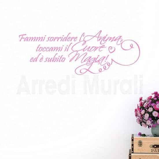 Adesivi da muro frase amore decorazioni rosa