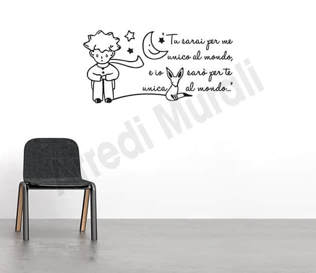 Adesivi murali decorazioni frase il piccolo principe