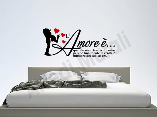 Adesivi murali frase amore decorazioni camera da letto WS1425