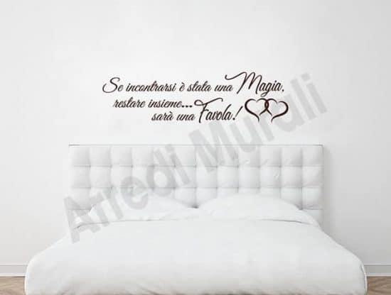 Adesivi murali frase camera da letto decorazioni arredo