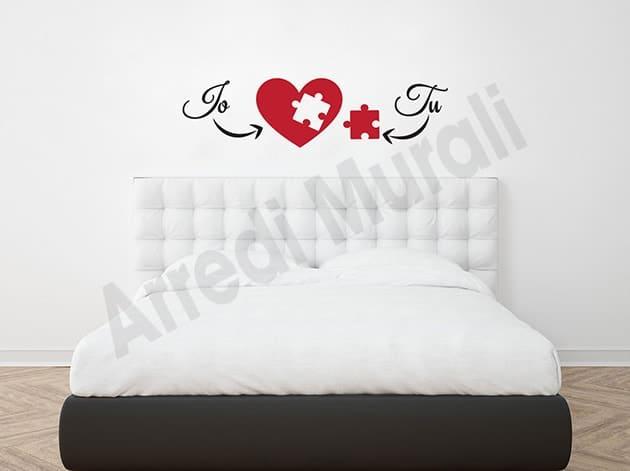 Adesivi murali love noi arredo decorazioni letto