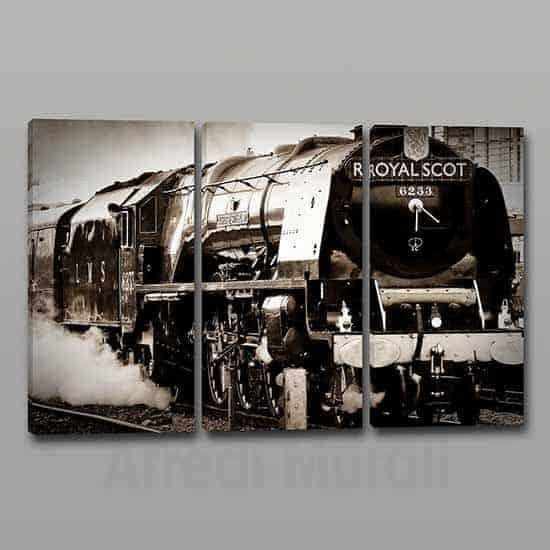 Quadri moderni stampa su tela treno vintage 3 tele