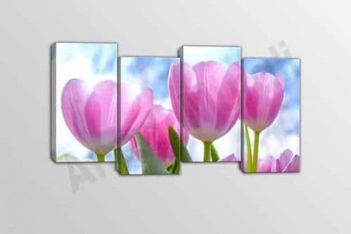 Quadri moderni tulipani quattro stampe su tela
