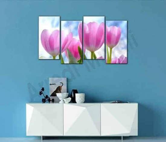 Quadri moderni tulipani stampe su tela