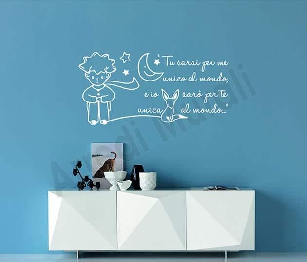 adesivi da parete decorazioni frase il piccolo principe