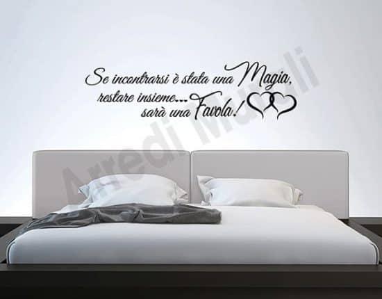 adesivi da parete frase camera da letto decorazioni arredo