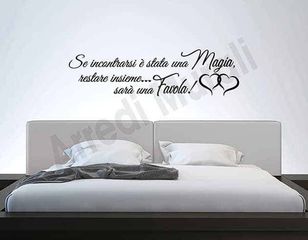 Adesivi murali frase camera da letto decorazioni arredo - Disegni parete camera da letto ...
