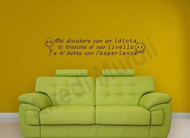 adesivi da parete frase divertente decorazioni