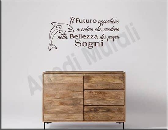 adesivi da parete frase futuro decorazioni arredo casa