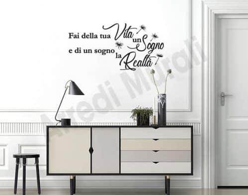 adesivi da parete frase sogno decorazioni arredo casa