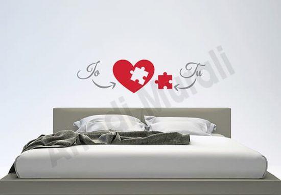 adesivi da parete love noi arredo decorazioni letto