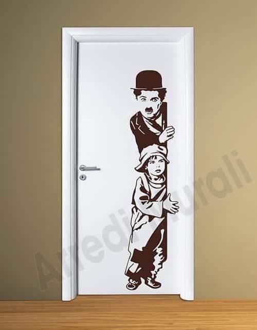 adesivi murali charlie chaplin arredo casa