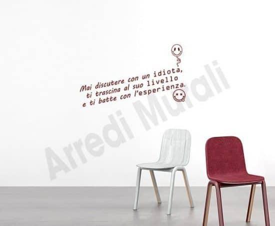 adesivi murali frase divertente decorazioni