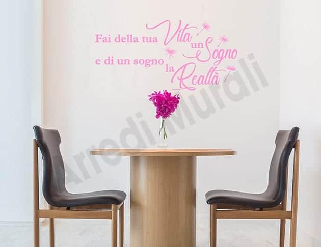 decorazioni da parete frase sogno adesivi arredo casa