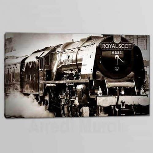Quadro moderno stampa su tela treno vintage 1 tela