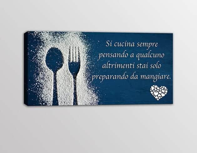 quadro moderno frase decorazione arredo cucina