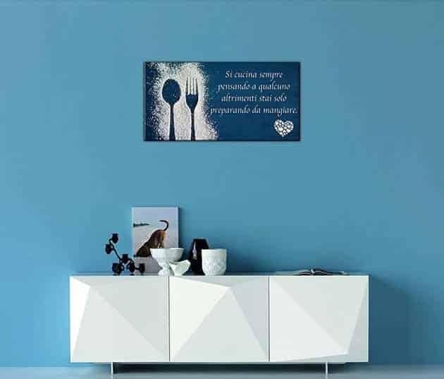 quadro moderno frase decorazione cucina arredo