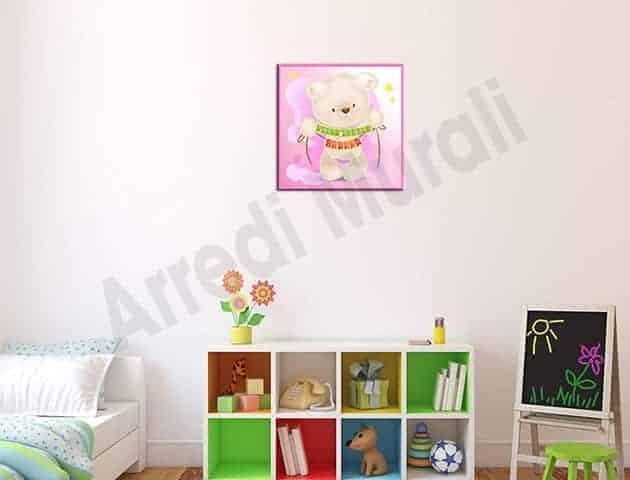 quadro moderno personalizzato cameretta nome bambina
