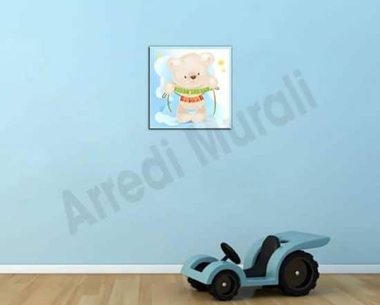 quadro moderno personalizzato nome bambino
