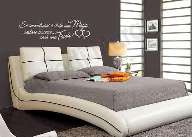 stickers murali frase camera da letto decorazioni arredo