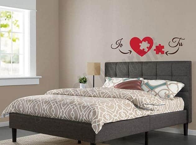 stickers murali love noi arredo decorazioni letto