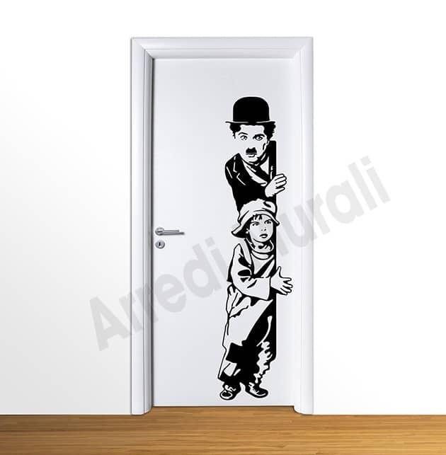 wall stickers charlie chaplin arredo casa