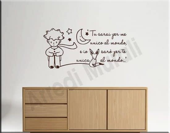 wall stickers decorazioni frase il piccolo principe