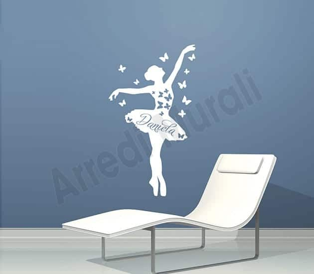 Adesivi da parete personalizzati nome ballerina - Stickers da parete personalizzati ...