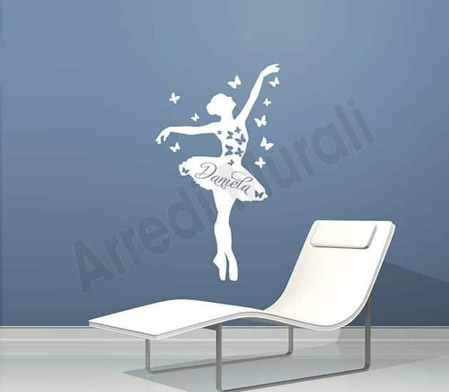 wall stickers personalizzati nome ballerina