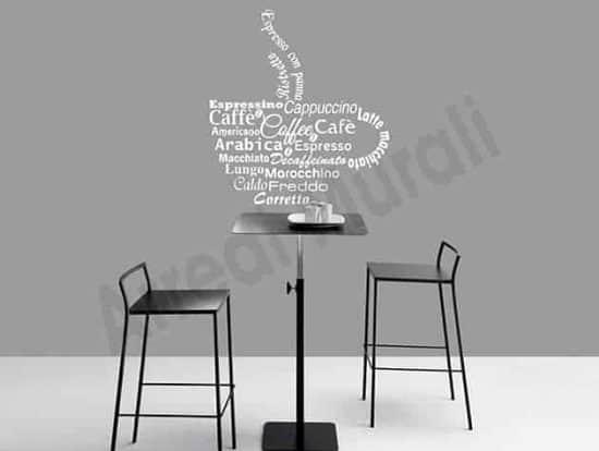 adesivi da parete bar coffee arredo design